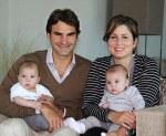Federer cu Mirka si copiii - poza originală